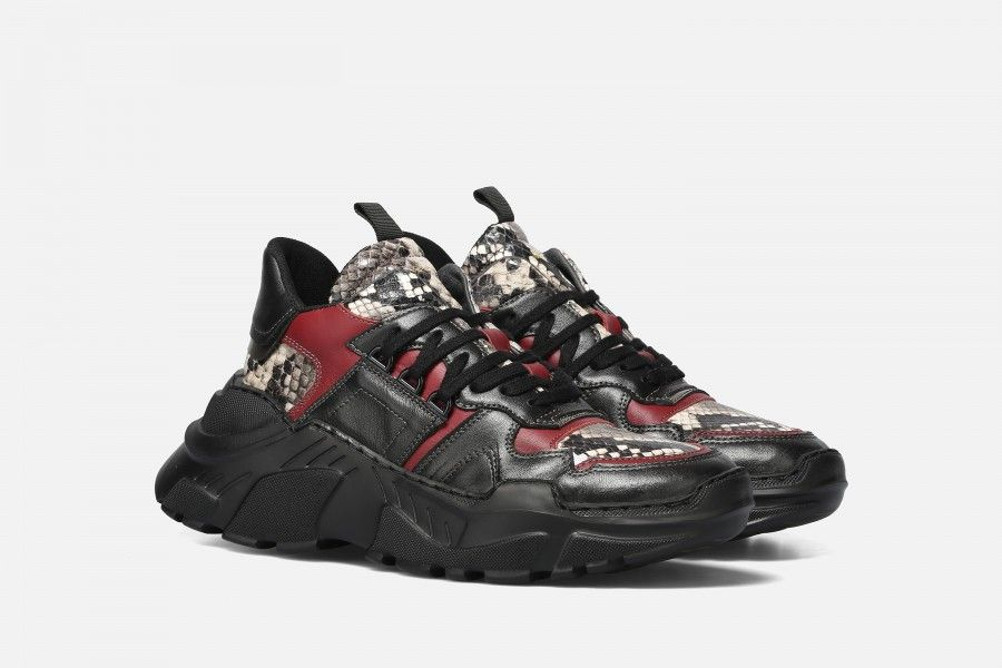 ALRUX Sneakers - Black/Bordeaux