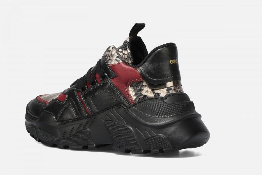 ALRUX Sneakers - Black & Bordeaux