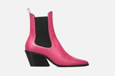 ROUNDROULETTE Mid Heel Boots