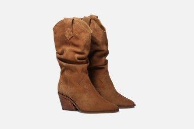 DOPO Mid Heel Boots - Cognac
