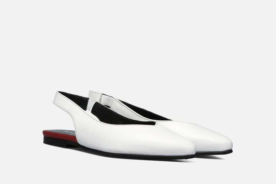 MEET Flat Shoes - White