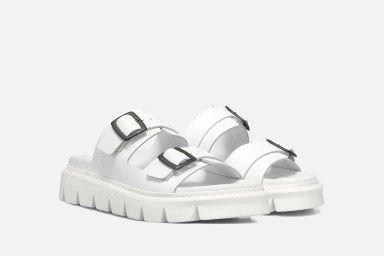 NAXOS Platform Sandals - White