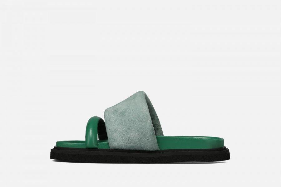 CAPRI Flat Sandals - Green