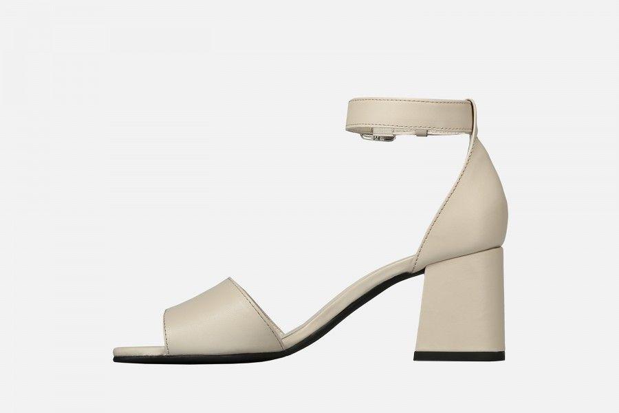 RECIFE Mid Heel Sandals - Nude