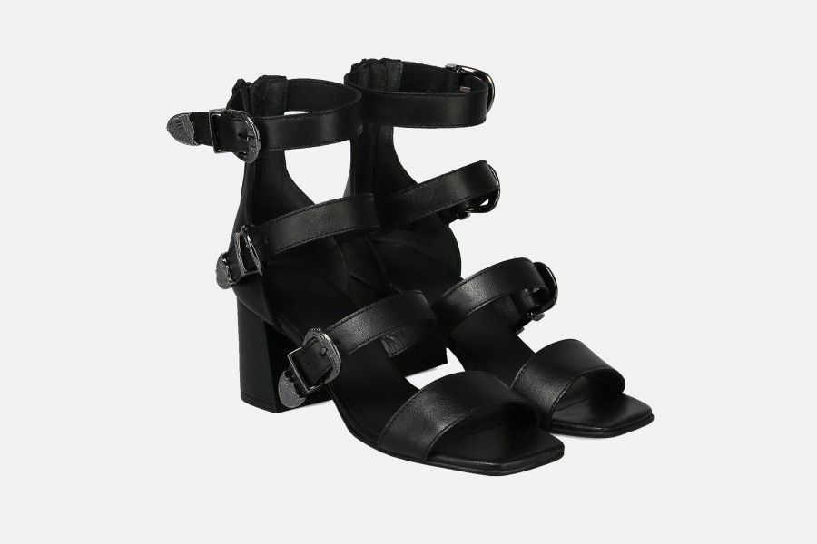 RIO Mid Heel Sandals - Preto