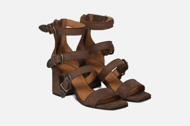 RIO Mid Heel Sandals - Brown