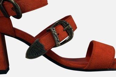 RIO Mid Heel Sandals - Laranja