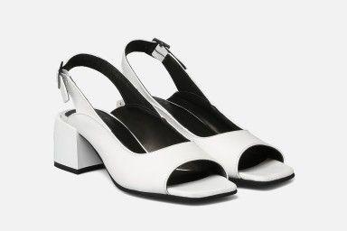 BALI Mid Heel Sandals - Branco