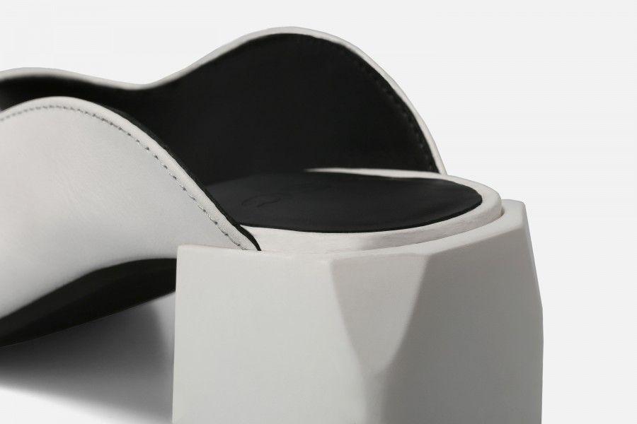 PHI PHI Mid Heel Sandals - Branco