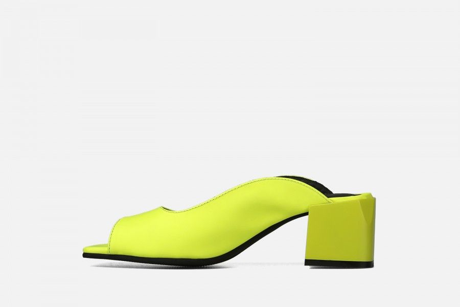 PHI PHI Mid Heel Sandals - Yellow
