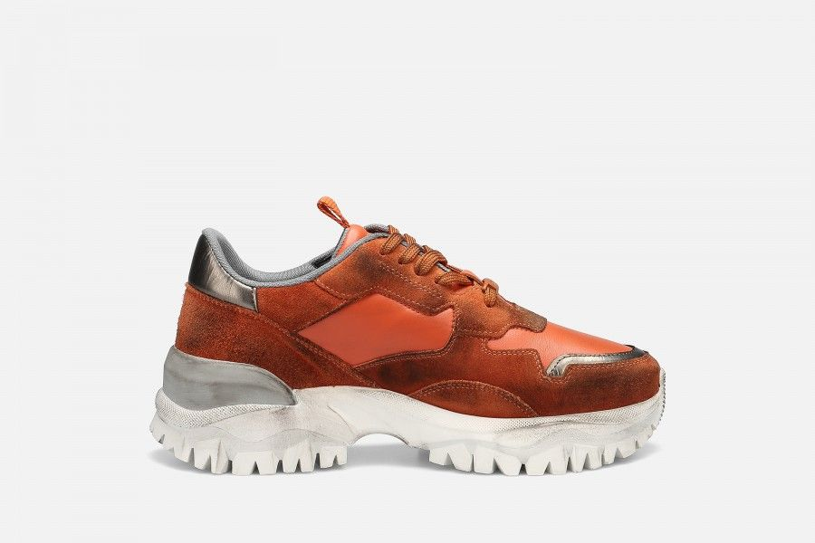 FIRE Sneakers - Laranja Suede