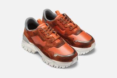 FIRE Sneakers - Orange Suede