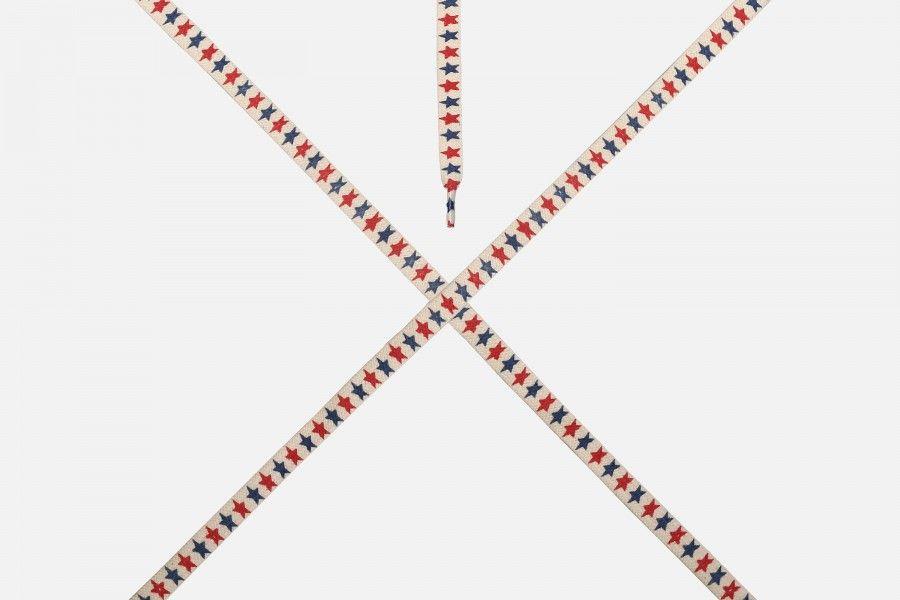 COSTUMIZED STAR Shoe lace - White