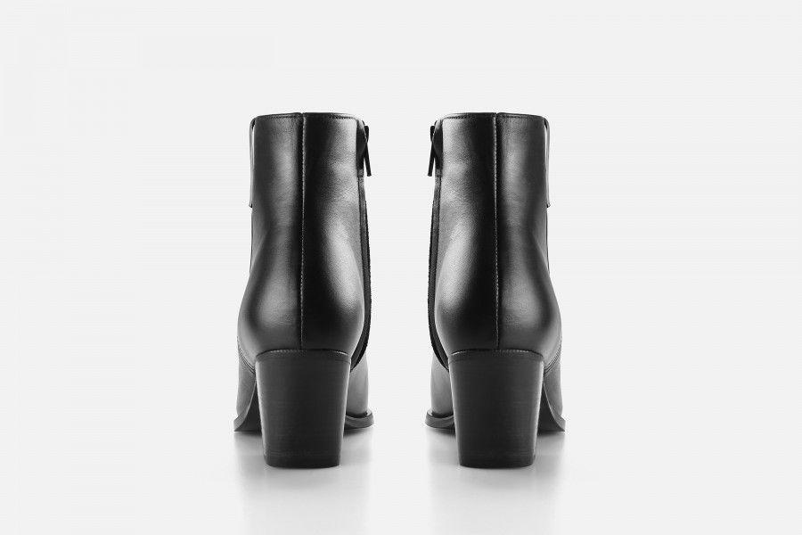 TAMARIZ Mid Heel Boots - Black