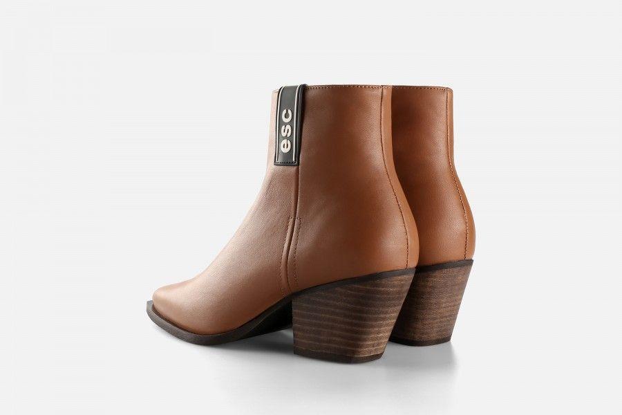 TAMARIZ Mid Heel Boots - Cognac