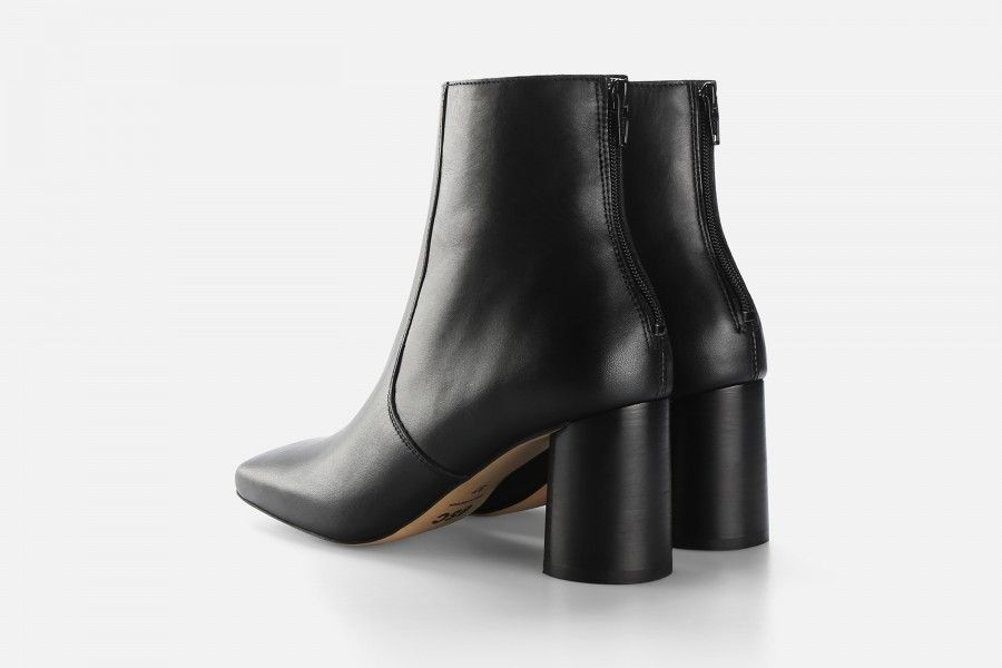 LUNA ANKLE BOOT Mid Heel Boots - Preto