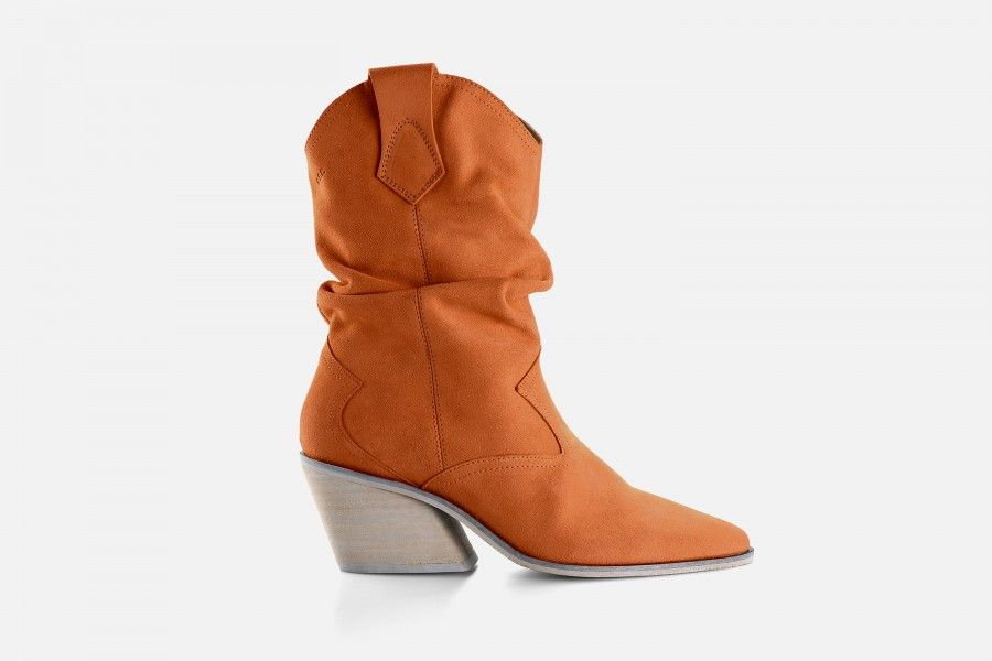 DOPE Mid Heel Boots - Orange