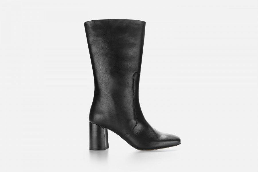 LUNA HIGH BOOT Mid Heel Boots - Black