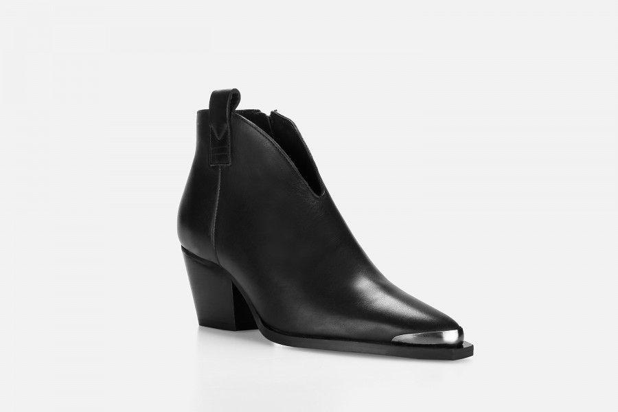 HADES Mid Heel Boots - Preto