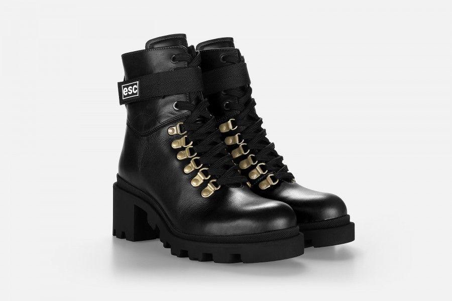 ARELUM Mid Heel Boots - Black