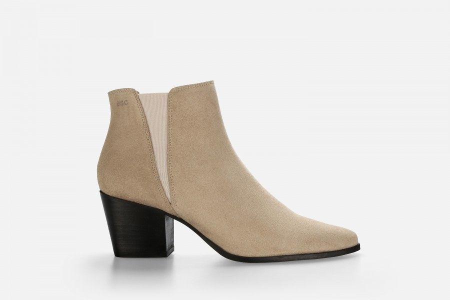 HADARIN Mid Heel Boots - Bege