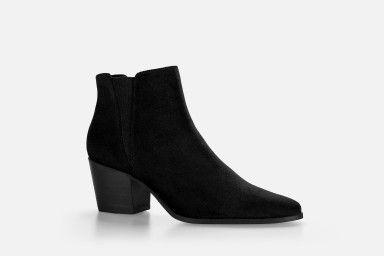 HADARIN Mid Heel Boots - Preto