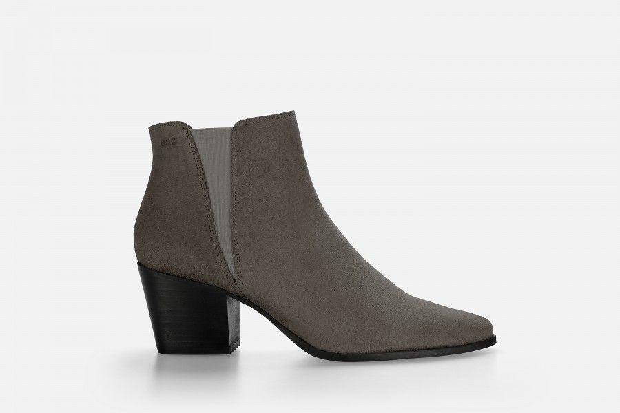 HADARIN Mid Heel Boots - Taupe