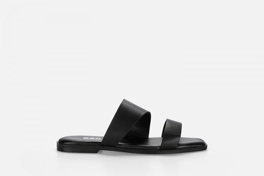 BRUNI Flat Sandals - Preto