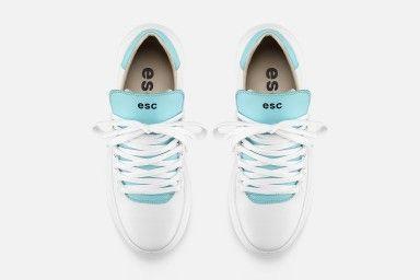 TROPHY Sneakers - Branco & Azul