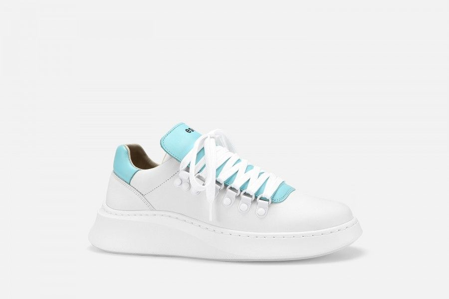 TROPHY Sneakers - White & Blue