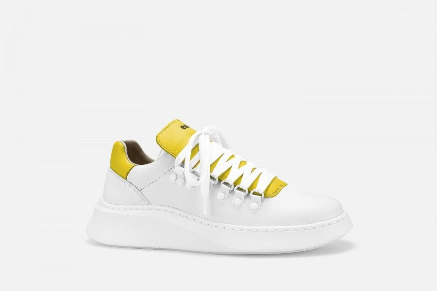 TROPHY Sneakers - White/Yellow