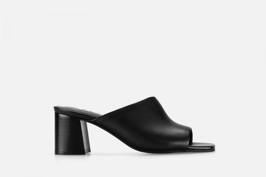 SCHIFFER Mid Heel Sandals - Black