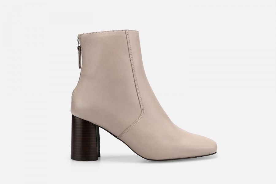 LUNA ANKLE BOOT Mid Heel Boots - Cinza