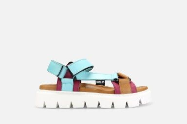 SLIDE Platform Sandals - Multicolor1