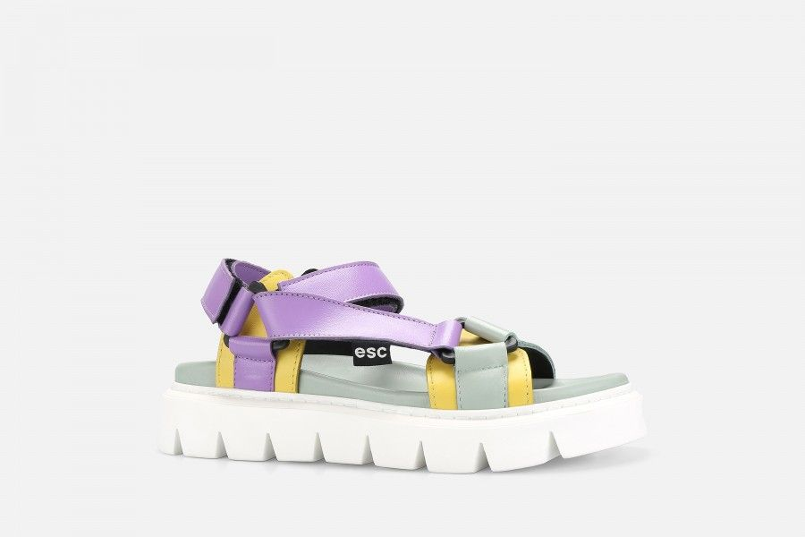 SLIDE Platform Sandals - Multicolor2