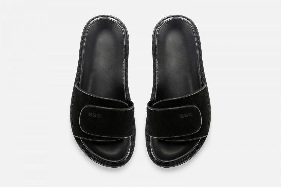 CUBA Flat Sandals - Black
