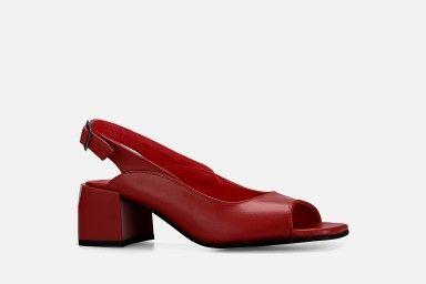 BALI Mid Heel Sandals - Red