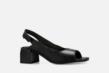 BALI Mid Heel Sandals - Black