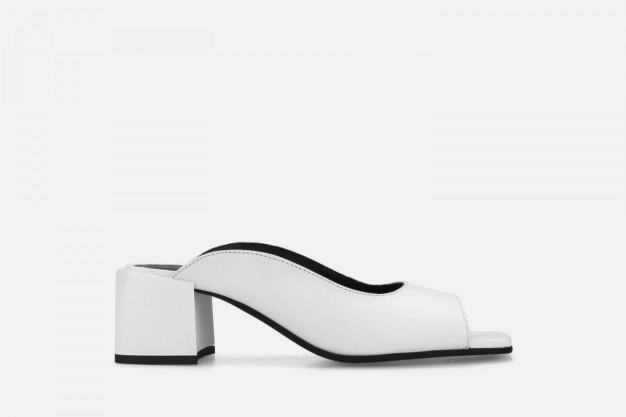 PHI PHI Mid Heel Sandals - White