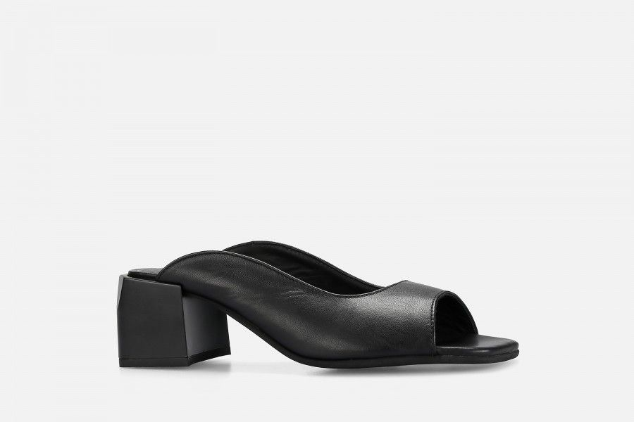 PHI PHI Mid Heel Sandals - Black