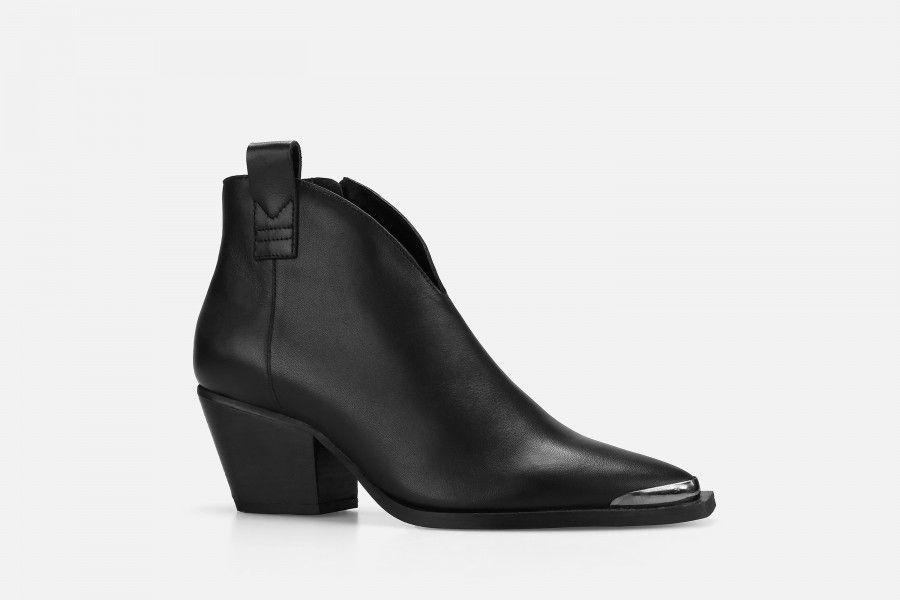 HADES Mid Heel Boots - Black