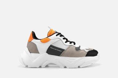 ALRICK Sneakers - Grey/Orange