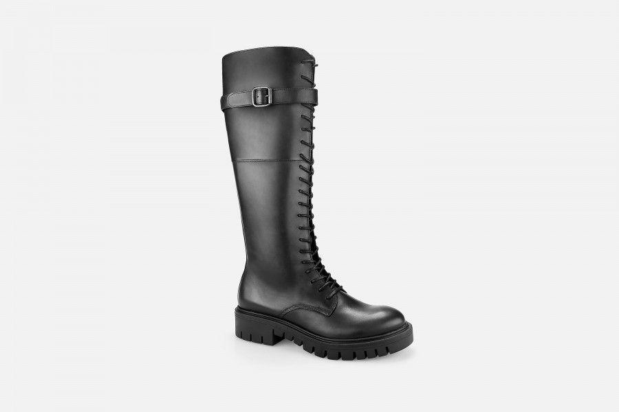 OAK Knee-Length Boots - Black