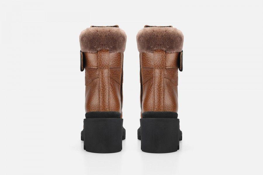 ARELUM Mid Heel Boots - Cognac